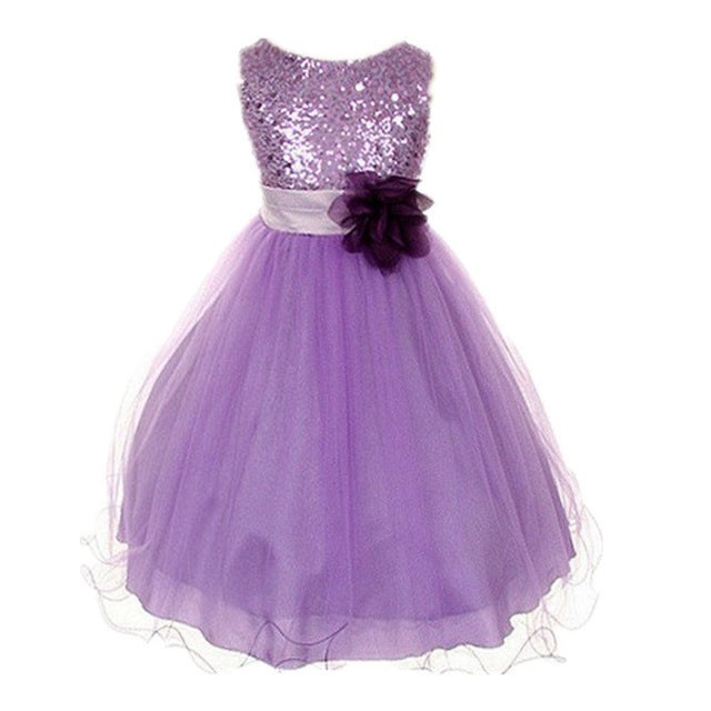 Summer Flower Girl Dress Ball gowns Kids Dresses For Girls Party Princess Girl Clothes For 3 4 5 6 7 8 Year Birthday Dress-hipnfly-purple 1-3T-hipnfly