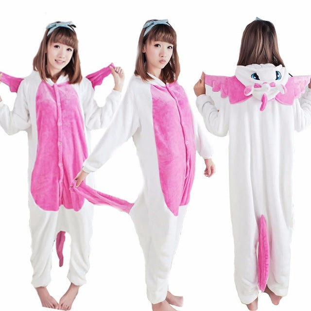 Winter Unisex Adult Men Women Pajamas Costumes Animal Onesie Sleepwear Stitch Zebra Panda Totoro Bear Bat Unicorn Pig Dinosaur-hipnfly-pink unicorn-S-hipnfly