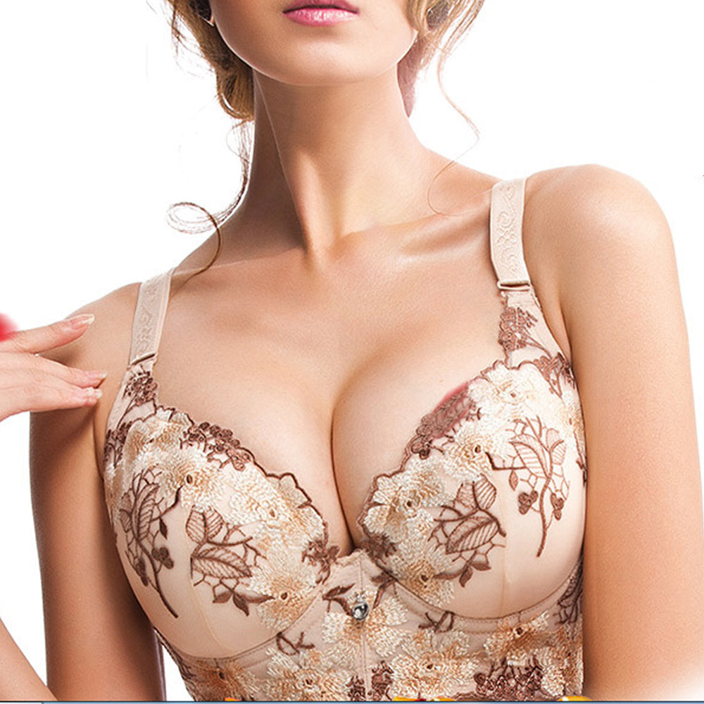 Vogue Secret Women Sexy bralette big size Floral elegance Bra underwear Push Up bra B C D Cup Intimates Female Bra Tops lingerie