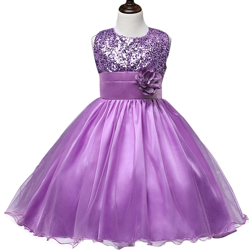 Flower Teenagers Kids Evening Party Dresses For Girl Wedding