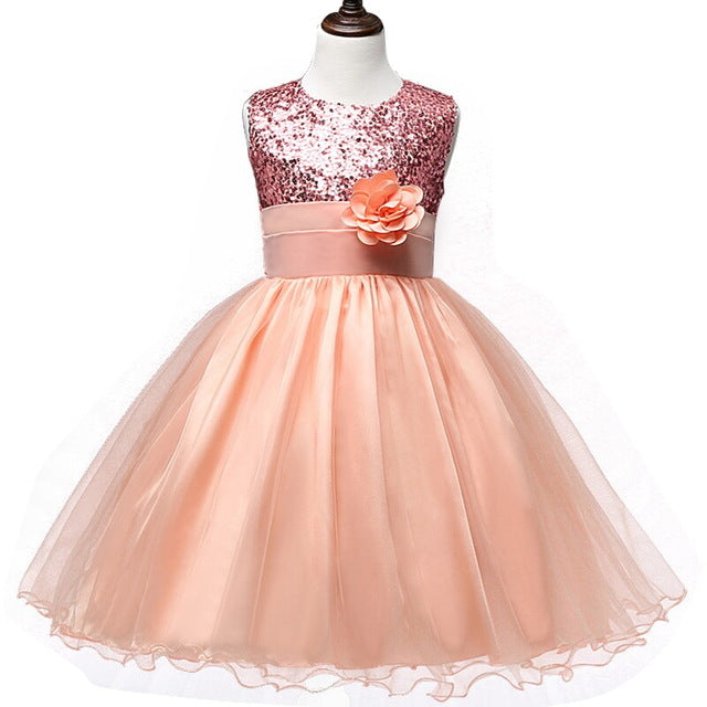 Flower Teenagers Kids Evening Party Dresses For Girl Wedding Princess Dresses Girls Children Brand Clothing Kids Formal Clothes-hipnfly-C126F-4T-hipnfly