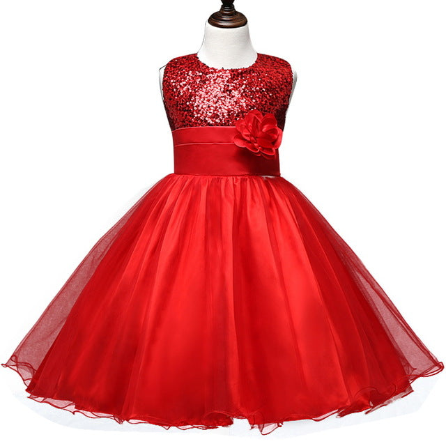 Flower Teenagers Kids Evening Party Dresses For Girl Wedding Princess Dresses Girls Children Brand Clothing Kids Formal Clothes-hipnfly-C126H-4T-hipnfly
