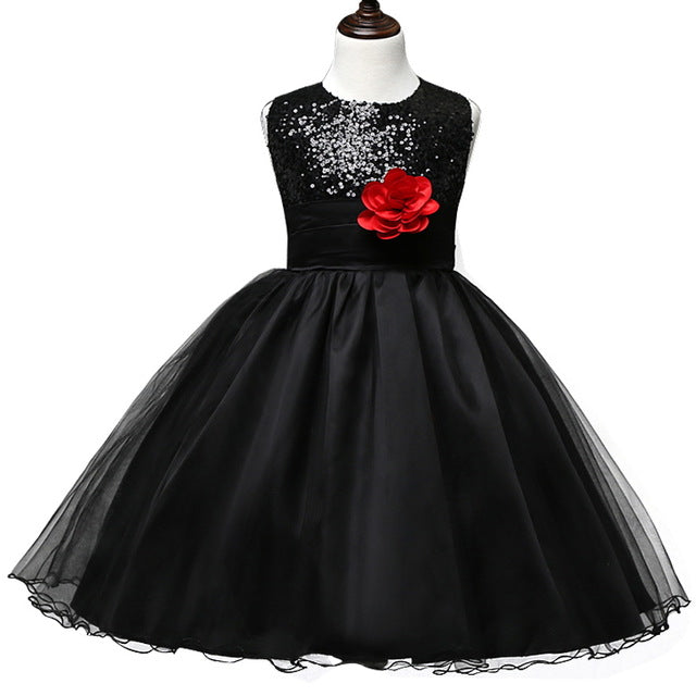 Flower Teenagers Kids Evening Party Dresses For Girl Wedding Princess Dresses Girls Children Brand Clothing Kids Formal Clothes-hipnfly-hipnfly