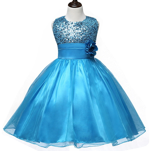 Flower Teenagers Kids Evening Party Dresses For Girl Wedding Princess Dresses Girls Children Brand Clothing Kids Formal Clothes