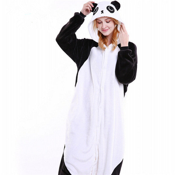 Winter Unisex Adult Men Women Pajamas Costumes Animal Onesie Sleepwear Stitch Zebra Panda Totoro Bear Bat Unicorn Pig Dinosaur-hipnfly-Kungfu Panda-S-hipnfly