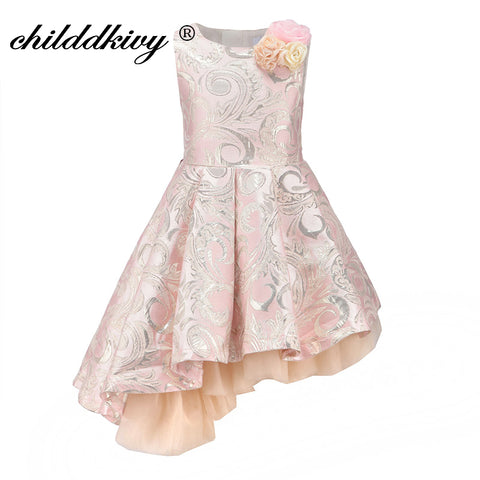Baby Girl Princess Dress 3-12Years Kids Sleeveless Autumn Winter Dresses for Toddler Girl Robe Fille Children Clothes