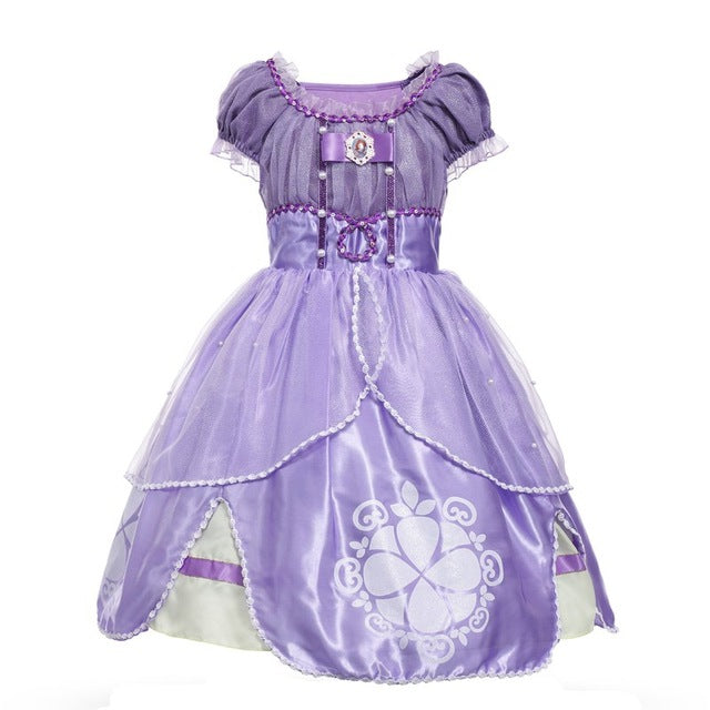 MUABABY Princess Summer Dresses Girls Sofia Cosplay Costume 5 Layers Children Kids Halloween Birthday Party Tutu Dresses Fantasy-hipnfly-Sofia 01-3T-hipnfly