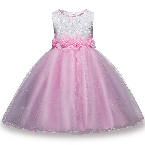 Summer Flower Girl Dress Ball gowns Kids Dresses For Girls Party Princess Girl Clothes For 3 4 5 6 7 8 Year Birthday Dress-hipnfly-as picture 4-3T-hipnfly