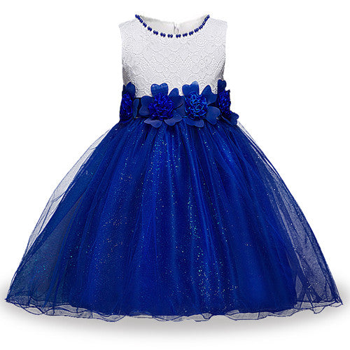 Summer Flower Girl Dress Ball gowns Kids Dresses For Girls Party Princess Girl Clothes For 3 4 5 6 7 8 Year Birthday Dress-hipnfly-as picture 3-3T-hipnfly