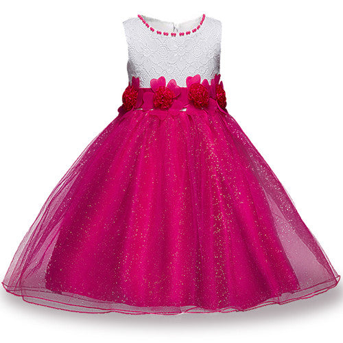 Summer Flower Girl Dress Ball gowns Kids Dresses For Girls Party Princess Girl Clothes For 3 4 5 6 7 8 Year Birthday Dress-hipnfly-as picture 2-3T-hipnfly