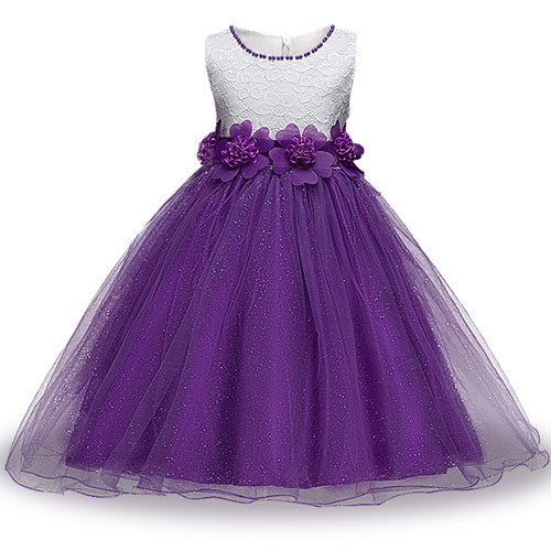 Summer Flower Girl Dress Ball gowns Kids Dresses For Girls Party Princess Girl Clothes For 3 4 5 6 7 8 Year Birthday Dress-hipnfly-as picture 1-3T-hipnfly