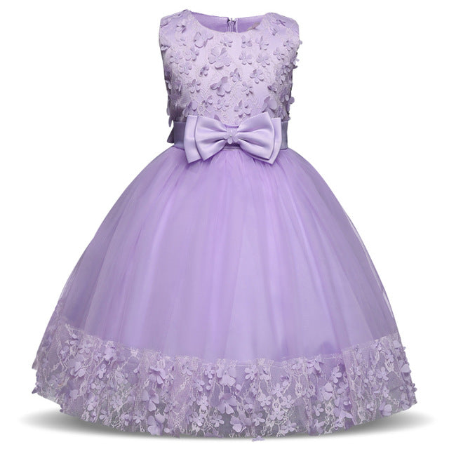 Summer Flower Dress Girl Princess Costume Dresses Girl Party Wear Tulle Kids Children Prom Gown Vestido Formal Dress 4-10 Years-hipnfly-As Photo 7-4T-hipnfly