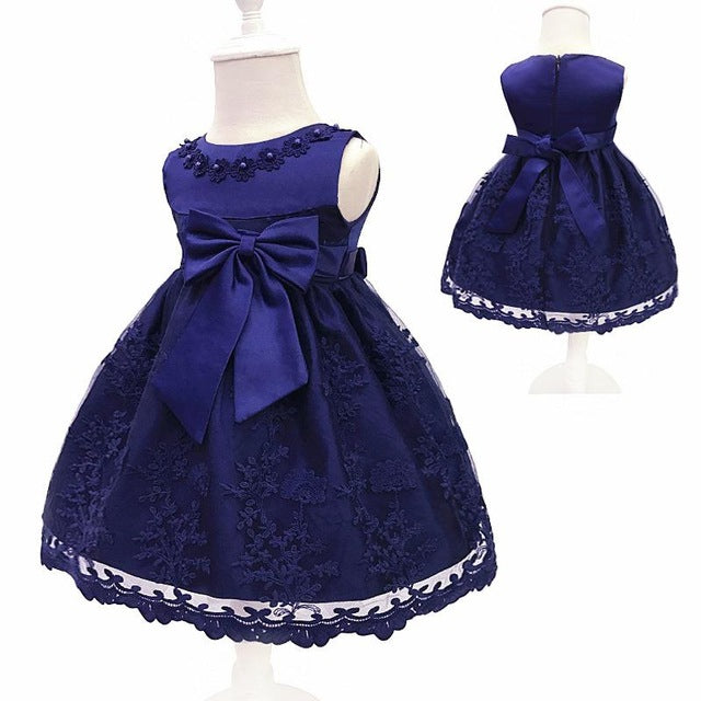 Baby Girls Dress For Party Princess Dresses Infant Christening Gown 1 Year Birthday Dress Christmas Baby Girls Clothing 4ds100-hipnfly-Blue-12M-hipnfly