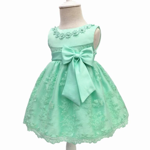 Baby Girls Dress For Party Princess Dresses Infant Christening Gown 1 Year Birthday Dress Christmas Baby Girls Clothing 4ds100-hipnfly-Green-12M-hipnfly