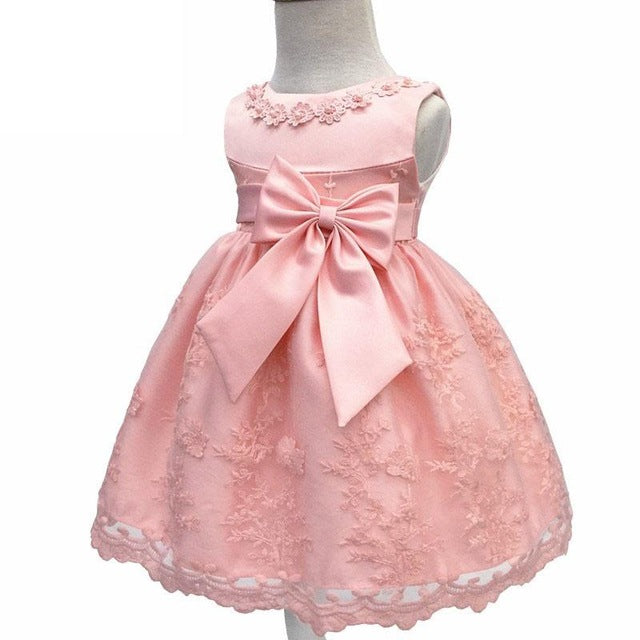 Baby Girls Dress For Party Princess Dresses Infant Christening Gown 1 Year Birthday Dress Christmas Baby Girls Clothing 4ds100-hipnfly-Pink-12M-hipnfly
