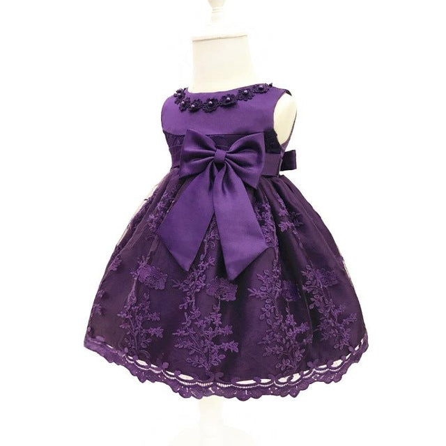 Baby Girls Dress For Party Princess Dresses Infant Christening Gown 1 Year Birthday Dress Christmas Baby Girls Clothing 4ds100-hipnfly-Purple-12M-hipnfly