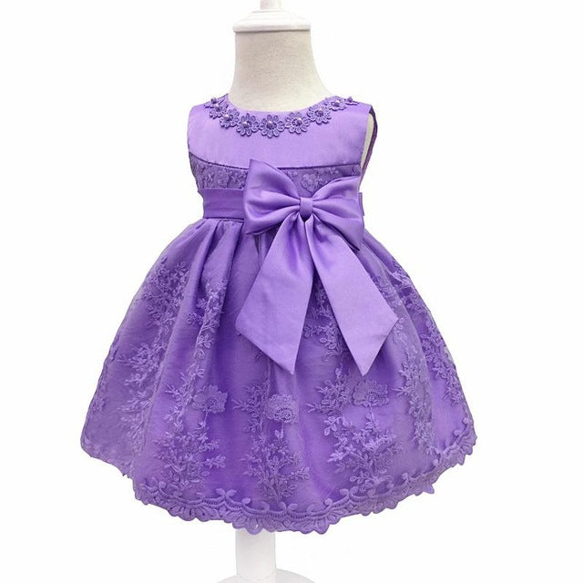 Baby Girls Dress For Party Princess Dresses Infant Christening Gown 1 Year Birthday Dress Christmas Baby Girls Clothing 4ds100-hipnfly-Lavender-12M-hipnfly