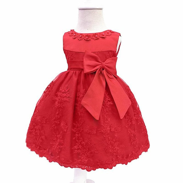 Baby Girls Dress For Party Princess Dresses Infant Christening Gown 1 Year Birthday Dress Christmas Baby Girls Clothing 4ds100-hipnfly-Red-12M-hipnfly