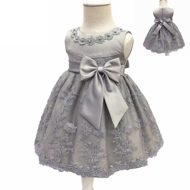 Baby Girls Dress For Party Princess Dresses Infant Christening Gown 1 Year Birthday Dress Christmas Baby Girls Clothing 4ds100-hipnfly-Silver-12M-hipnfly