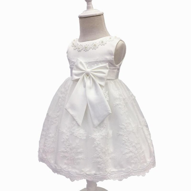 Baby Girls Dress For Party Princess Dresses Infant Christening Gown 1 Year Birthday Dress Christmas Baby Girls Clothing 4ds100-hipnfly-White-12M-hipnfly