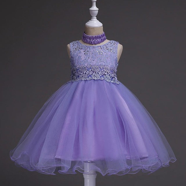 Girls Wedding Dress 2018 Sleeveless Carnaval Teenager Summer Tutu Dresses For Girls Clothes Vestidos Kids Costume Children Dress-hipnfly-Purple-5-hipnfly