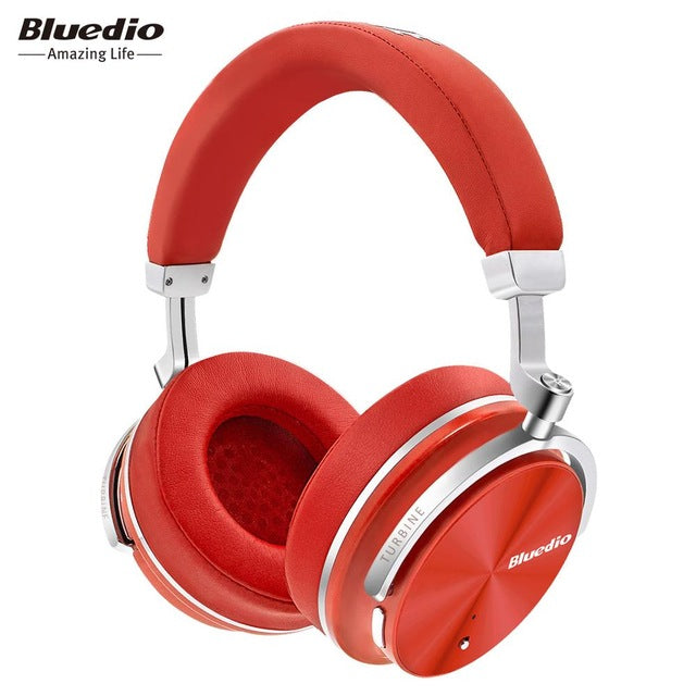 Bluedio T4S Active Noise Cancelling Wireless Bluetooth Headphones wireless Headset with microphone for phones-hipnfly-Red-China-hipnfly