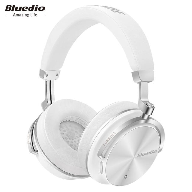 Bluedio T4S Active Noise Cancelling Wireless Bluetooth Headphones wireless Headset with microphone for phones-hipnfly-White-China-hipnfly