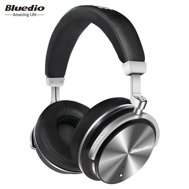 Bluedio T4S Active Noise Cancelling Wireless Bluetooth Headphones wireless Headset with microphone for phones-hipnfly-Black-China-hipnfly