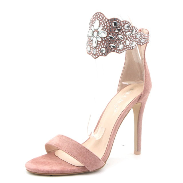 Parkside Wind Gladiator Women Sandals Crystal Flock Thin High Heels Shoes Fashion Summer Rhinestone Party Ladies PumpsXWC1068-45-hipnfly-Pink-5-hipnfly