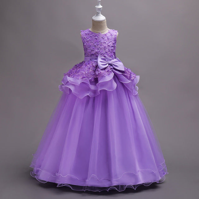 KEAIYOUHUO Summer Kids Dresses For Girls Clothes Princess Girls Wedding Dress Party Teenagers Dresses Vestidos Children Clothing-hipnfly-Purple-5-hipnfly