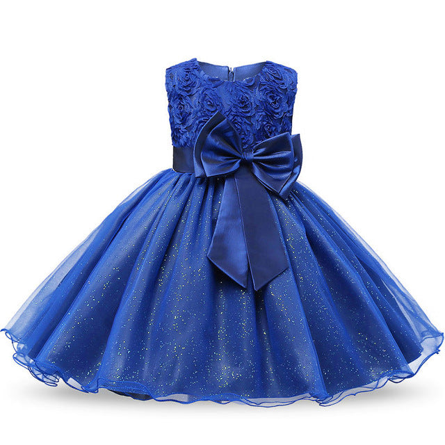 Blue Toddler Girl Baptism Clothes Girl Newborn Infant Christening Gown Dress For Girl Kids Party Wear 1 2 Years Birthday Outfits-hipnfly-SL-3M-hipnfly