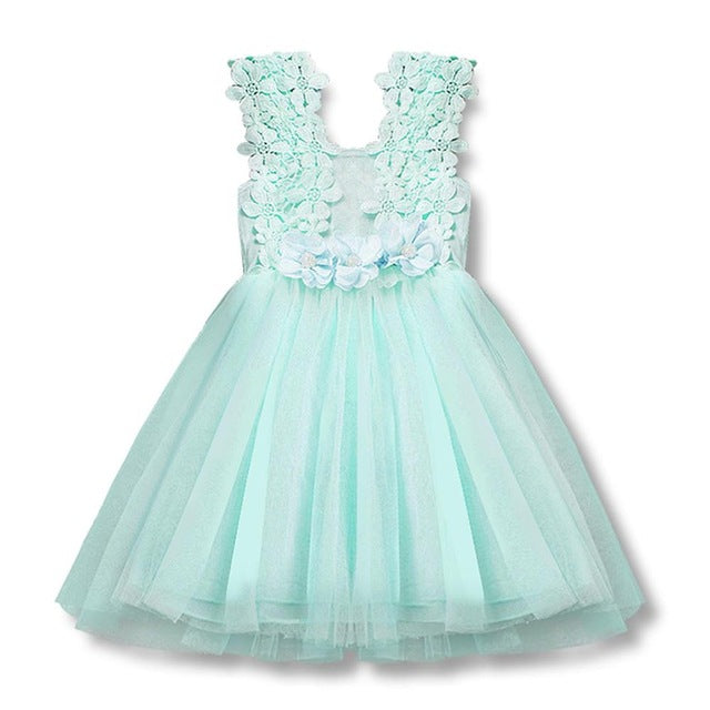 Summer Toddler Baby Girl Dress Infant Floral Gown for Girls 2-6T Tulle Causal Birthday Party Sundress Clothes vestido infantil