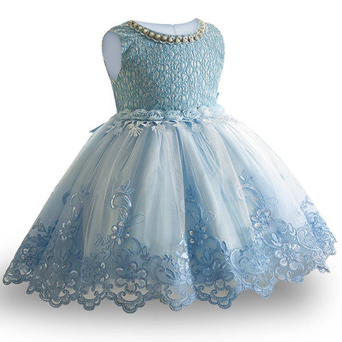 Summer Flower Girl Dress Ball gowns Kids Dresses For Girls Party Princess Girl Clothes For 3 4 5 6 7 8 Year Birthday Dress-hipnfly-blue 1-3T-hipnfly