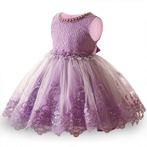 Summer Flower Girl Dress Ball gowns Kids Dresses For Girls Party Princess Girl Clothes For 3 4 5 6 7 8 Year Birthday Dress-hipnfly-purple 2-3T-hipnfly