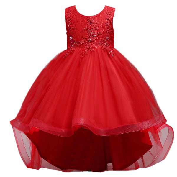 New Brand Flower Girls Dress Kids Princess Party Wedding Gowns for Children Graduation Ceremony Baby Kids Long Tail Formal Wear-hipnfly-hipnfly