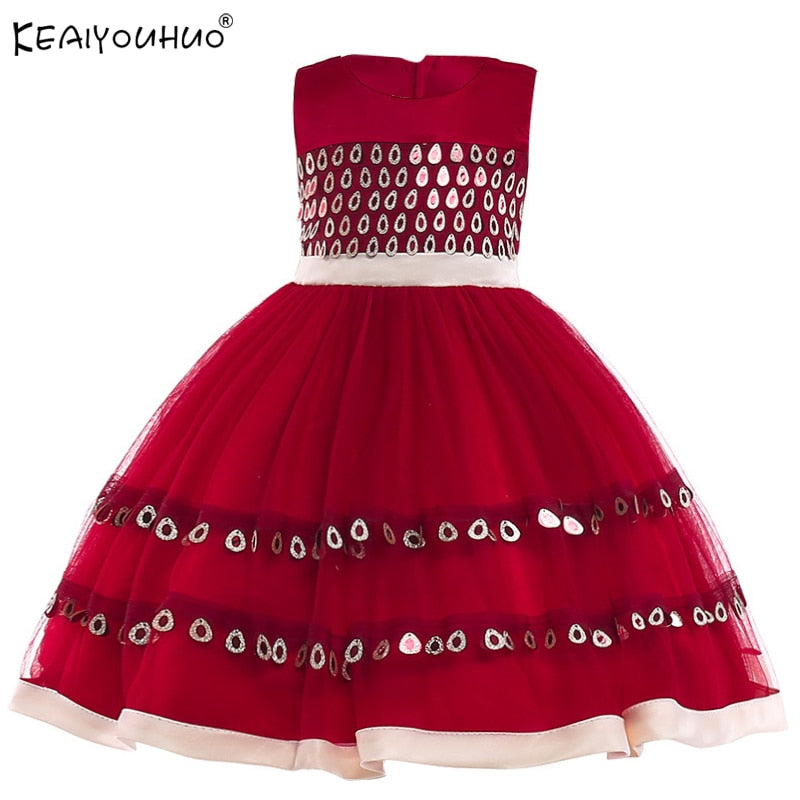 Girls Dress Elegant Summer Beach Dresses For Kids Clothes Vestidos Princess Dress For Girls Children Clothing 3 4 5 6 7 8 Years-hipnfly-hipnfly
