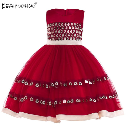 Girls Dress Elegant Summer Beach Dresses For Kids Clothes Vestidos Princess Dress For Girls Children Clothing 3 4 5 6 7 8 Years