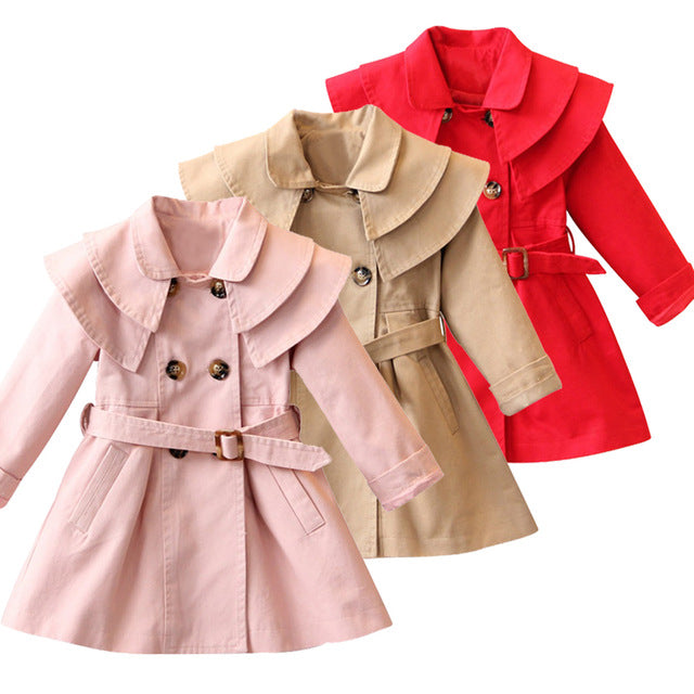 New Girls jacket children's clothing girl trench coat kids jacket hooded girl coats Winter Trench Wind Dust Hooded Outerwear