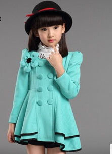 High quality girl Coat fashion Flower Jacket coat for girl Autumn winter outerwear girls Clothes 4-12 years old-hipnfly-as picture-4T-hipnfly