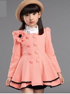 High quality girl Coat fashion Flower Jacket coat for girl Autumn winter outerwear girls Clothes 4-12 years old-hipnfly-as picture 1-4T-hipnfly