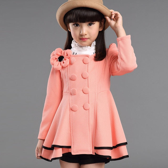 Baby Girls Jacket 2018 Autumn Winter Jackets For Girls Wool Coat Kids Warm Outerwear Coats For Girls Clothes Children Jacket-hipnfly-Pinnk-3T-hipnfly