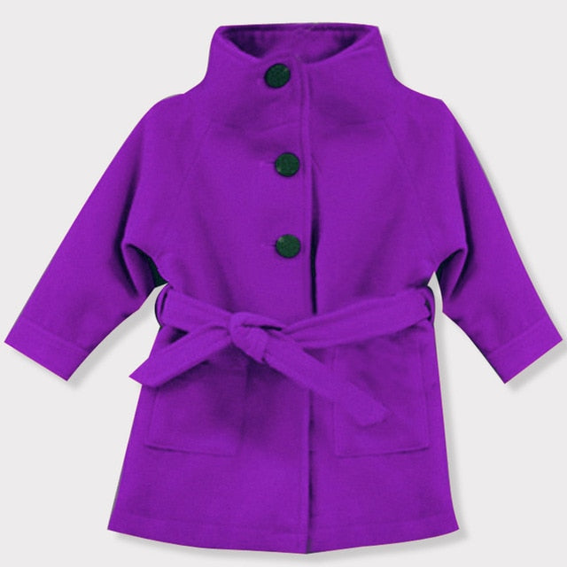 Baby Girls Jacket 2018 Autumn Winter Jackets For Girls Wool Coat Kids Warm Outerwear Coats For Girls Clothes Children Jacket-hipnfly-Purple 1-3T-hipnfly