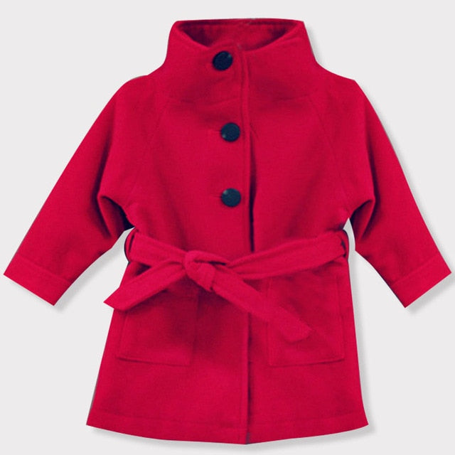 Baby Girls Jacket 2018 Autumn Winter Jackets For Girls Wool Coat Kids Warm Outerwear Coats For Girls Clothes Children Jacket-hipnfly-Red 1-3T-hipnfly