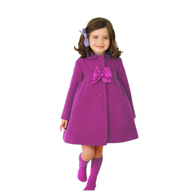 Baby Girls Jacket 2018 Autumn Winter Jackets For Girls Wool Coat Kids Warm Outerwear Coats For Girls Clothes Children Jacket-hipnfly-Purple 1-8-hipnfly