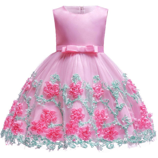 Baby Embroidered Formal Princess Dress for Girl Elegant Birthday Party Dress Girl Dress Baby Girl Christmas Clothes 2-14 Years-hipnfly-as picture 5-3T-hipnfly