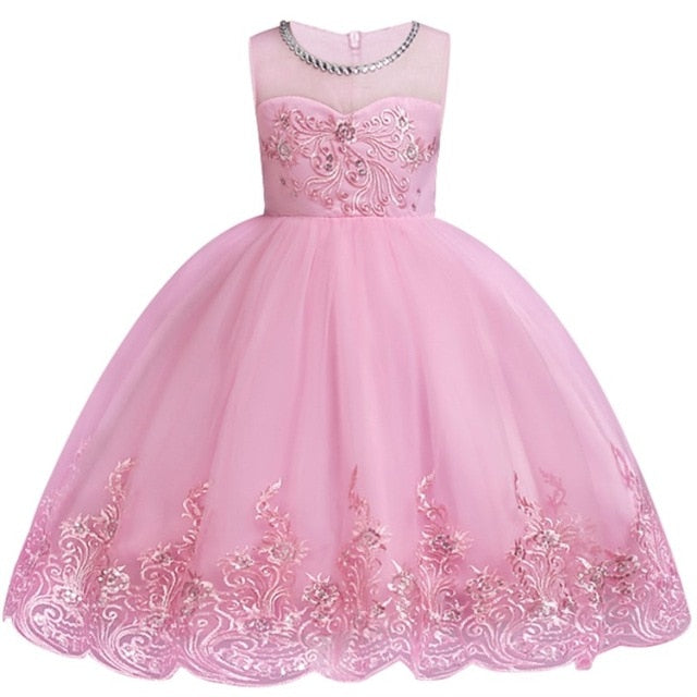 Baby Embroidered Formal Princess Dress for Girl Elegant Birthday Party Dress Girl Dress Baby Girl Christmas Clothes 2-14 Years-hipnfly-as picture-3T-hipnfly