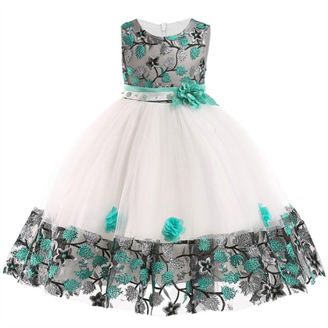 Baby Embroidered Formal Princess Dress for Girl Elegant Birthday Party Dress Girl Dress Baby Girl Christmas Clothes 2-14 Years-hipnfly-as picture 4-7-hipnfly