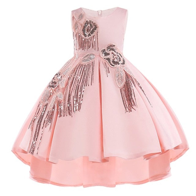 Cotton Lining Baby Girls Dress For Girls Wedding Party Dresses Kids Princess Summer Dress Children Girls Clothing Age 2-10 T-hipnfly-hipnfly