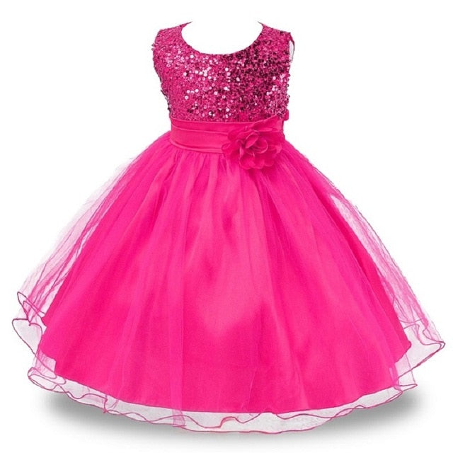 4-14Y Lace Teenagers Kids Girls Wedding Long Dress elegant Princess Party Pageant Christmas Formal Sleeveless Dress Clothes-hipnfly-as picture 10-4T-hipnfly