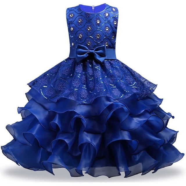 Summer Christmas Girl Dress Upscale 3-14 yrs princess Dresses girls Wedding Sequins Embroidered Formal Girl Birthday Party Dress-hipnfly-as picture 7-3T-hipnfly